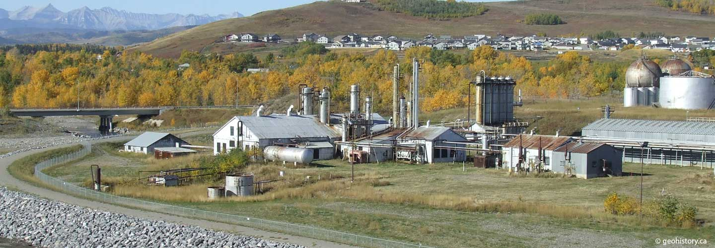Turner Valley Gas Plant in the fall